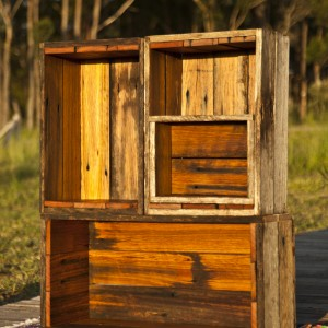 Mix and match timber display boxes