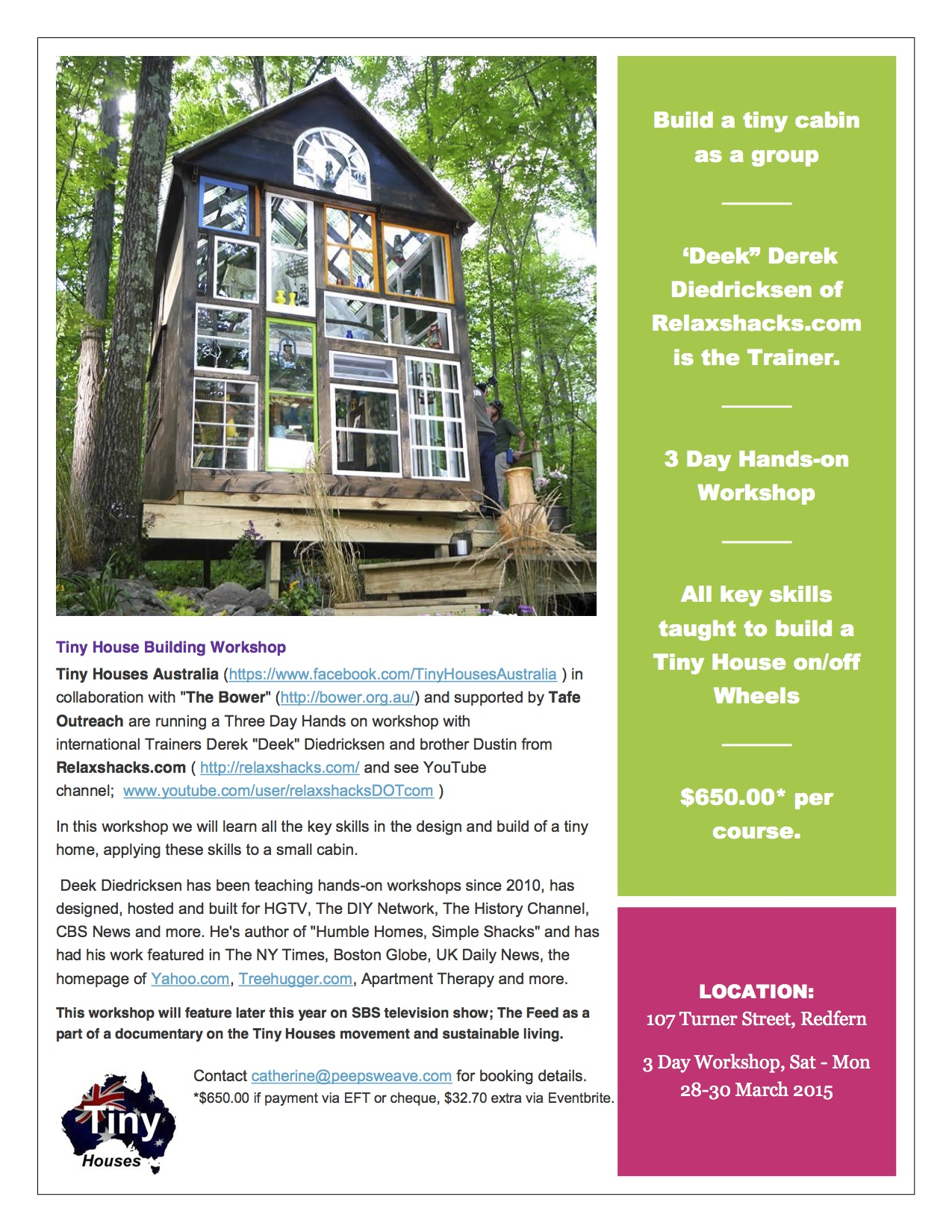 Tiny House Workshop Flyer copy