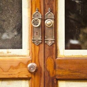 Ceder doors with antiquie handles, what a find