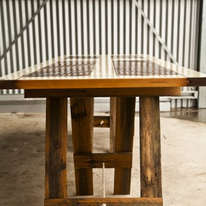 Trestle tables with character