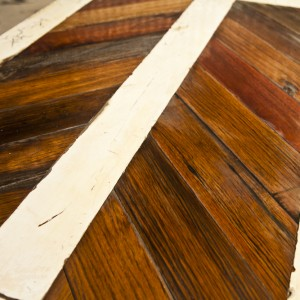 Reclaimed timber parquetry